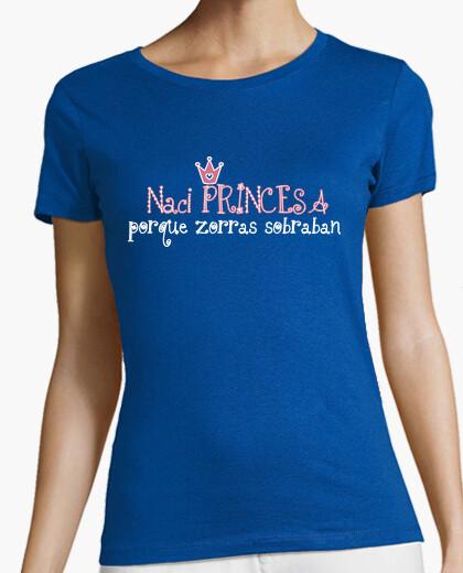 Tee-shirt je suis né princesse parce renards laissés sur © setaloca