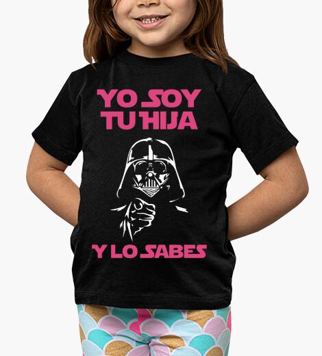 Vêtements enfant Je suis ta fille,et tu le sais -  Enfant (fond sombre)
