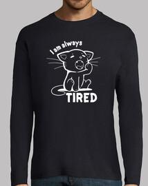 je suis toujours fatigué - chemise pour homme