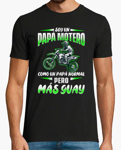 Tee-shirt Je suis un motocross cool motard papa