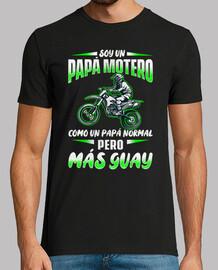 Je suis un motocross cool motard papa
