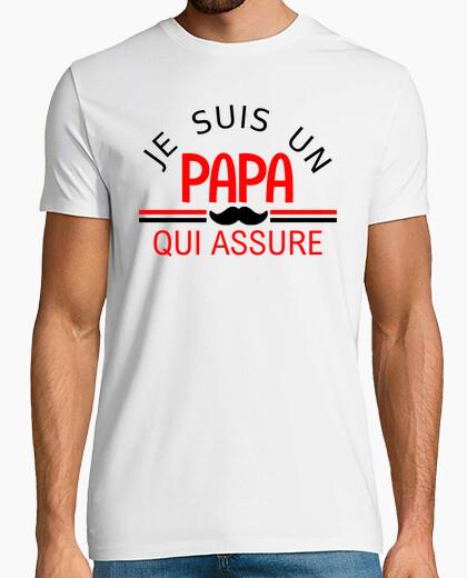 Tee-shirt je suis un papa qui assure