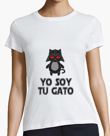 Tee-shirt je suis votre vader de chat