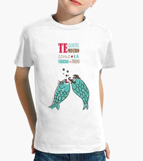Vêtements enfant Je t'aime beaucoup comme la truite