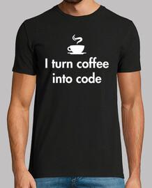 je transforme le café en code