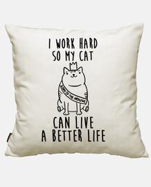 je travaille pour mon chat