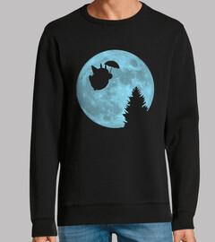 je volant totoro sous la lune
