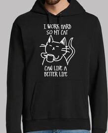 Je work dur pour que mon chat can vivre