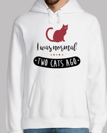 j'étais il y a deux chats d'habitude