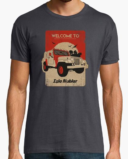 T-shirt jeep isla quadrato nublar
