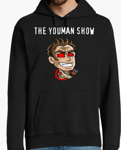 Sweat jersey à capuche. youman le canal logo show