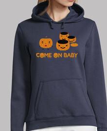 Jersey con capucha Calabazas Halloween