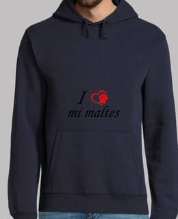 Jersey con capucha, I love mi maltes