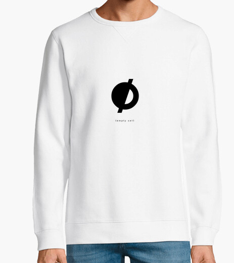 Jersey {empty set} — white sweatshirt