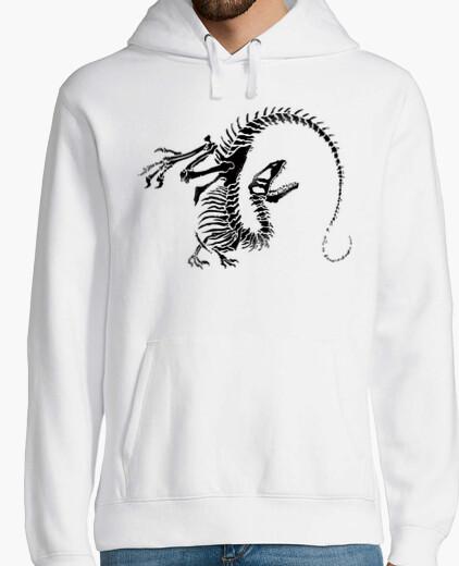 Sudadera Jersey Esqueleto Dinosaurio Hombre con capucha