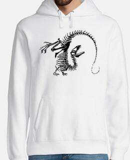 Jersey Esqueleto Dinosaurio Hombre con capucha