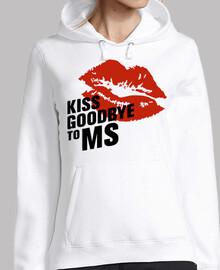jersey fille baiser au revoir à ms
