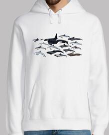Jersey hombre Orcas, delfines y blackfish