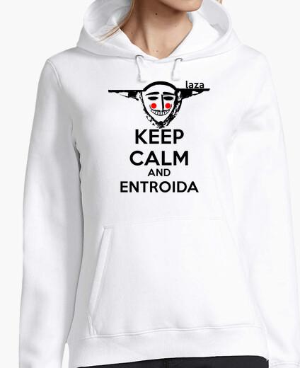 Jersey Keep Calm Entroida (Logo negro - Mujer)