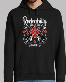 jersey rétro rockabilly Rocker guitares vintage rock and roll