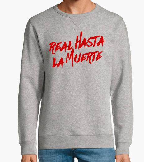 Jersey Sudadera Real hasta la muerte (Letras Rojas)