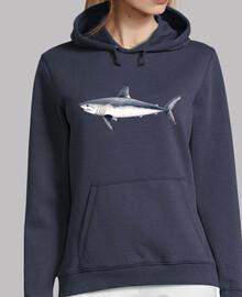 Jersey Tiburón cailón (Lamna nasus)