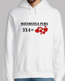 jersey uomo incappucciato matematica 3x4