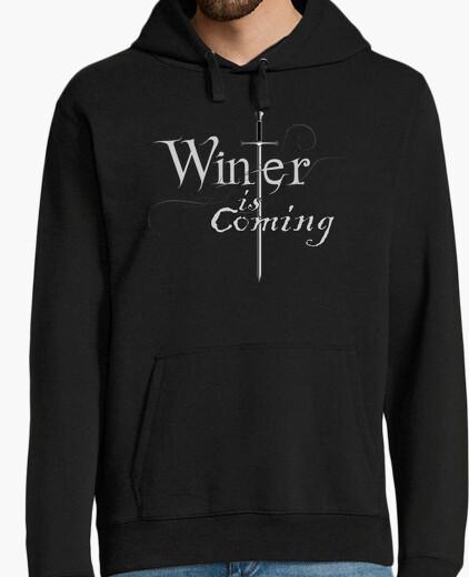 Felpa jersey uomo inverno sta arrivando / arya stark
