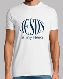 jésus est mon héros t-shirt homme blanc