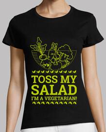 jeter ma salade je suis végétarien!