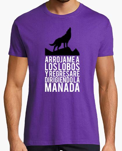Tee-shirt jetez-moi à les loups