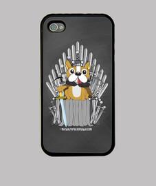 jeu de chien trônes - couverture de l'iphone 4 / 4s