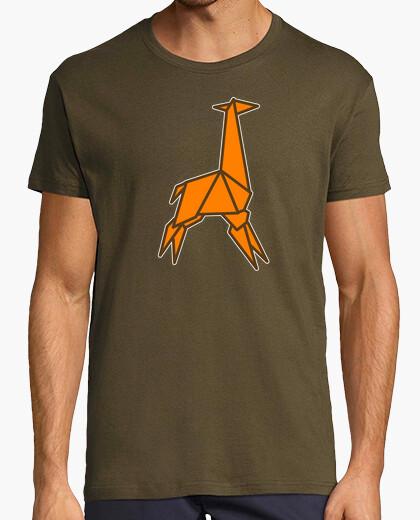 Camiseta jirafa de origami