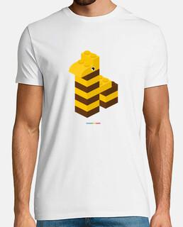 JIRAFA LEGO - Hombre, manga corta, blanco, calidad extra
