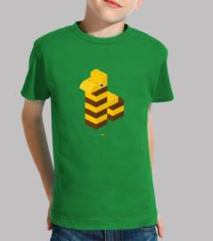 JIRAFA LEGO - Niño, manga corta, verde