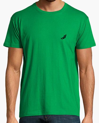 Camiseta JJ Hombre, manga corta, verde pradera, calidad extra