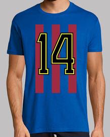 Johan Cruyff 14 - Blaugrana (Borde Amarillo)