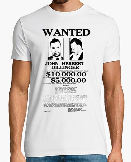 Camiseta John Dillinger Wanted Poster