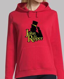John the Ripper Logo. sudadera roja chica.