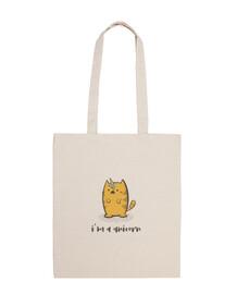 joli chat licorne avec glace - sac à bandoulière 100% coton