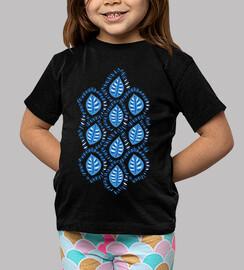 joli motif décoratif de feuilles bleues
