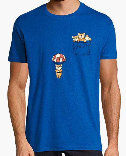 Tee-shirt jolie poche shiba inus