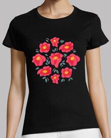 jolies fleurs aux pétales roses brillants