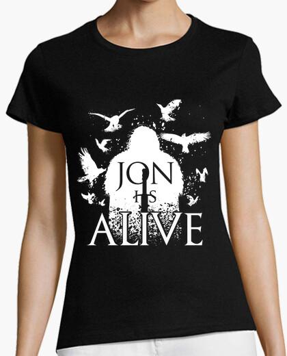 Camiseta jon está vivo