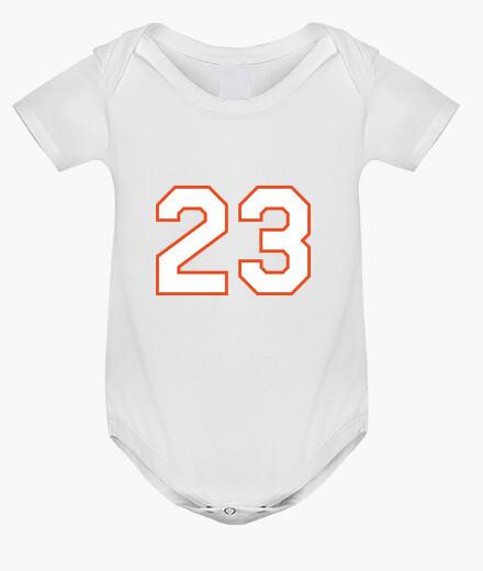 Ropa infantil jordan cuerpo del bebé 23 de baloncesto