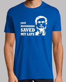 Jose Mourinho saved my life (blanco) azul