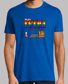 jouer à tetra 01a. t-shirt homme manches courtes