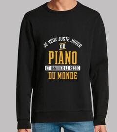 Jouer du piano et ignorer cadeau humour