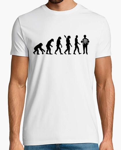 Tee-shirt joueur d'accordéon évolution