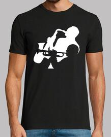 joueurs de trompette de jazz et de saxophone t-shirt